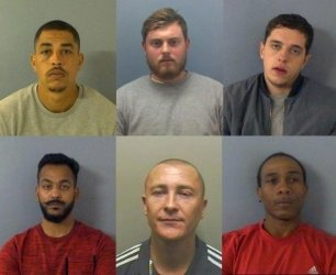 The six offenders from Operation Union